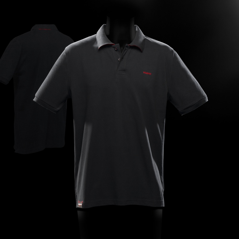 poloshirt basic men black