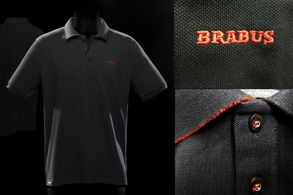 Classic black poloshirt with red details