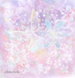 花に囲まれて踊る妖精