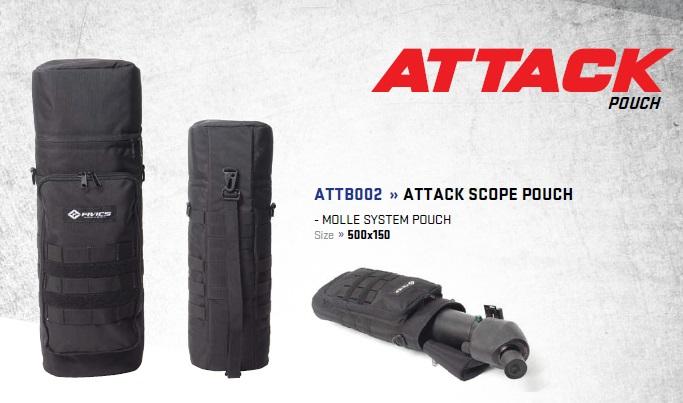 FIVICS ATTACKスコープポーチ<br>メーカー希望小売価格 3,414円<br><br>あなたのスコープを安全に運びます。<br>サイズ500x150<br>通常サイズのスコープであれば問題なく入ります。<br>
