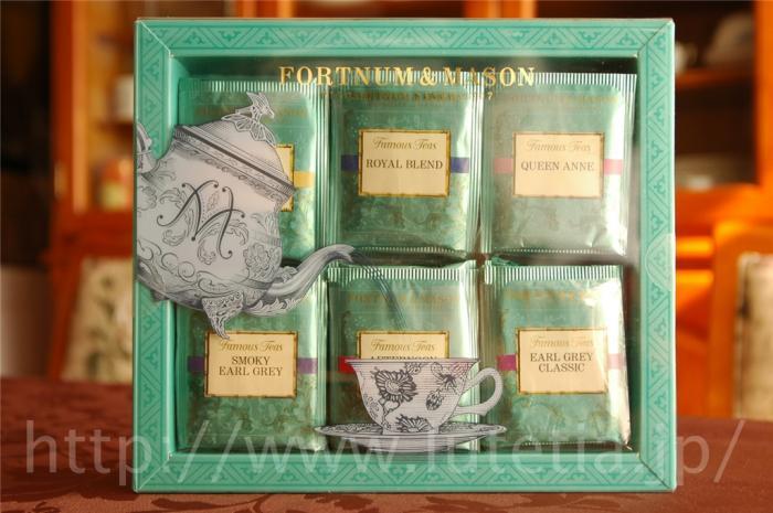 フォートナム&amp;メイソンのFamous Teasシリーズのティーバッグ60個入りです。<br> 人気の6種類のブレンド紅茶のティーバッグが各10個ずつ入っています。
