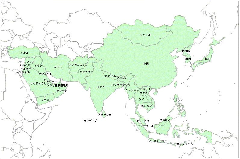 白地図-アジア地域 - FC2 ...