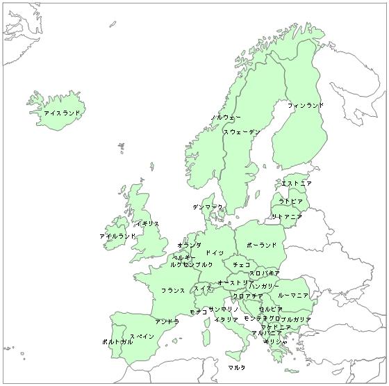 白地図 ヨーロッパ 白地図 フリー : 白地図データです。 ・白地図 ...