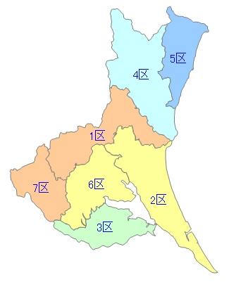 白地図-茨城県衆院小選挙区 - F...