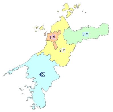 白地図-愛媛県衆院小選挙区 - F...