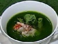オマール海老のフラン、青梗菜のソース