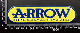 アロー ARROW エンブレム 耐熱 アルミステッカー 09896