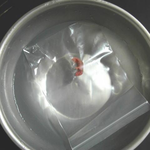 袋に入れて湯せんすれば匂いが残りやすいです。