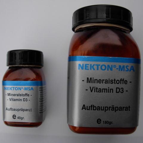 栄養剤 MSA40g と MSA180g 〔ネクトン〕