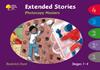 """""""Extended Stories""""とは、ストーリーブックの内容をさらに深く掘り下げた longer version のお話。文章の長さ、語彙、文法レベルともかなり高くなりますが、ストーリーブック上には書かれていないエピソードや詳細な描写の数々には、多くの発見や感動があるはずです。ステージ1のKipper Stories, Biff & Chip Stories, First Word、ステージ1+のPatterned Stories, More Patterned Stories, First Sentences、ステージ2のPatterned Stories, More Patterned Stories, Stories, More Stories A, More Stories B、ステージ3のStories, More Stories A, More Stories B, Sparrows、ステージ4のStories, More Stories A, More Stories B, Sparrowsを収録したコピー自由の原稿集です。 252ページ。 20.9x29.5."""