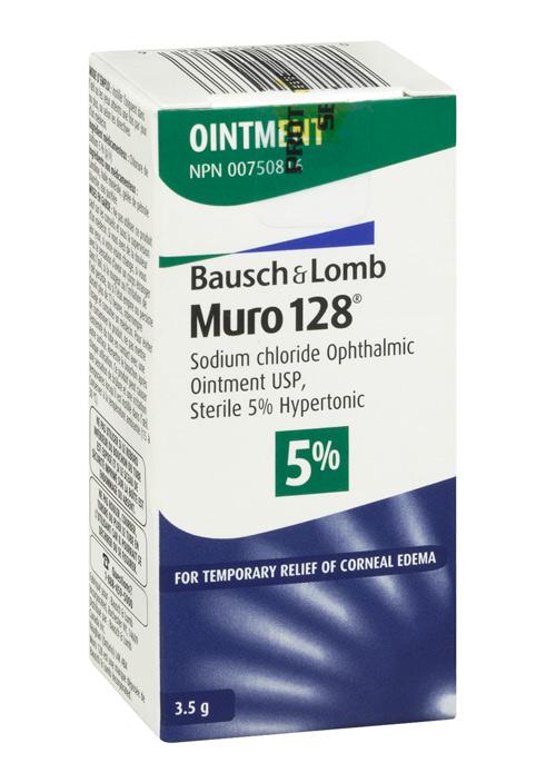 ボシュロム/ Bausch & Lomb Muro 128 Ophthalmic Ointment 軟膏 3.5g