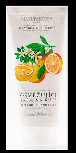 "<div>98.46%天然成分のグレープフルーツ&オレンジのハンドクリーム。</div><div>シアバター、グレープシードオイル、マカダミアナッツオイル、グレープフルーツエキス、オレンジエキス配合で肌に栄養を与えます。<br><div><span style=""font-size: 10pt;"">グレープシードオイルが</span>肌の再生を助け、グレープフルーツエキス、オレンジエキス、マカダミアナッツオイルが肌を<span style=""font-size: 10pt;"">保湿し、</span><span style=""font-size: 10pt;"">、</span><span style=""font-size: 10pt;"">シアバターが</span><span style=""font-size: 10pt;"">肌を保護します。</span></div><div><span style=""font-size: 10pt;"">軽くさらっとした付け心地のクリームで、肌に素早く浸透しべとつかないので、いつでも気軽にお使い頂けます。更に保湿効果を高めたい時は、お休み前に手にたっぷりとハンドクリームを塗り、コットンの手袋をつけておやすみ下さい。心地よく自然なシトラス系の香りです。</span></div><div><br></div><div><div><div>重量:約120g<br></div><div>サイズ:約6.214.5×4cm<br><br><div><a href=""http://czechzakka.blog28.fc2.com/blog-entry-472.html"">商品詳細・ご購入者様のレビュー &gt;&gt;</a></div><div><br></div>送料は<a href=""http://czechzakka.blog28.fc2.com/blog-entry-218.html"" target=""_blank"">送料・配送条件</a>をご確認下さい。</div></div></div></div><div id=""gtx-trans"" style=""position: absolute; left: 399px; top: 18.4px;""><div class=""gtx-trans-icon""></div></div>"