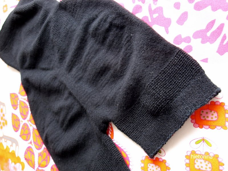 おしりは立体編み