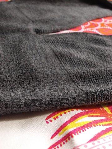 フィットするのに締め付けすぎない「立体編み」