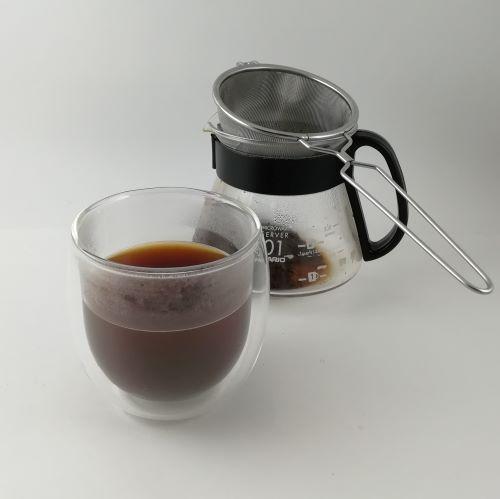 【茶こしを使ったコーヒーの淹れ方】完成しました