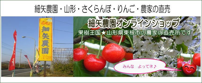 細矢農園・山形・さくらんぼ・りんご・農家の直売