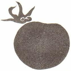 ハートトマト(大) 約3.4cm×2.8cm ヘタ約2cm×1.9cm