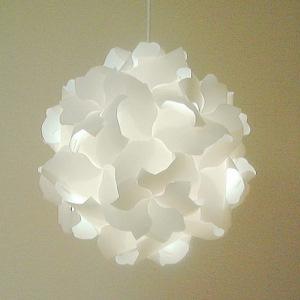 蛍光灯型電球によるナチュラル色の光です。蛍光灯型電球はオプション注文です。