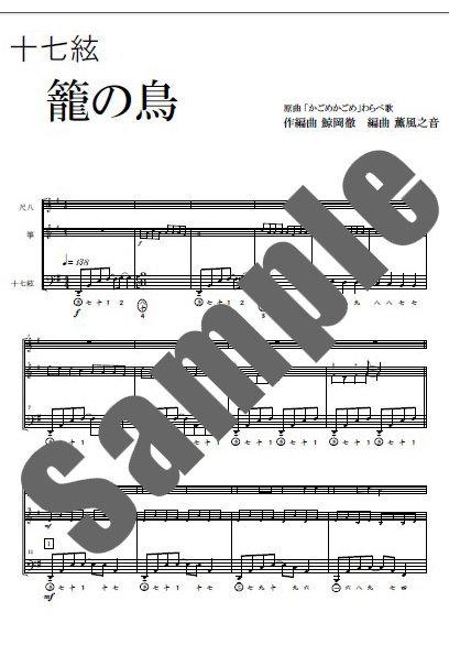 十七絃パート譜見本