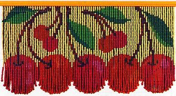 スキルスクリーンは、ビーズに糸を通す「のれんタイプ」のビーズ手芸の材料キットです。<br>サイズ:W85xH45cm 吊り数:81 ビーズ:8mm 発売元:元廣<br>【セット内容】 ビーズ、糸、針、吊棒、カバー、図案が入っています。<br>メーカー希望価格 7,480円(税込み)
