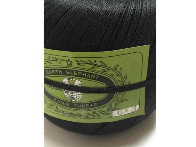 <p>麻糸アースエレファント16/3 450g蝋なし黒 約1400m</p><p><br></p>