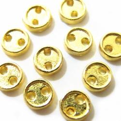 サイズ:直径3.8mm<br /><br />色:ゴールド<br /><br />内容量:10ヶ入