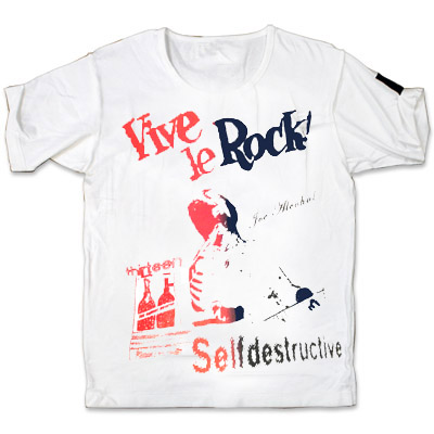 10th anniv.JOE ALCOHOL VIVE LE ROCK T-Shirts  RED&BLACK