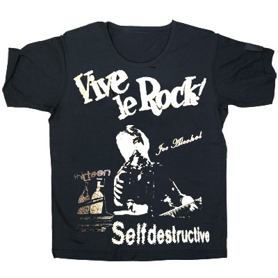 JOE ALCOHOL VIVE LE ROCK VIVE LE ROCK T-Shirts silverラメ