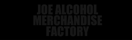 タグ部分「JOE ALCOHOL MERCHANDISE FACTORY」