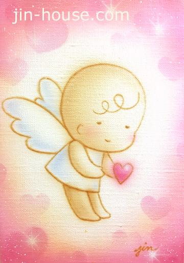 エアブラシならではのふんわり天使があなたを癒します