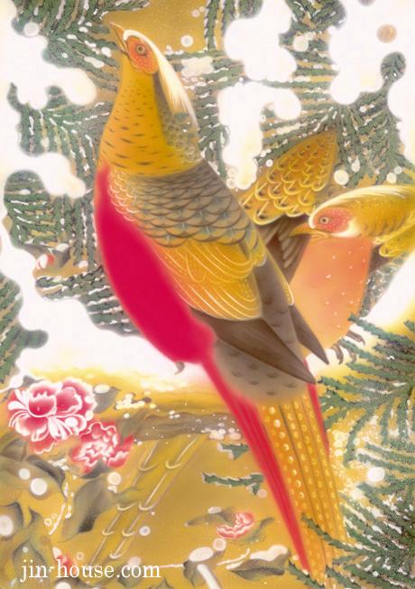 エアブラシ作品例。水性アクリル絵の具で♪