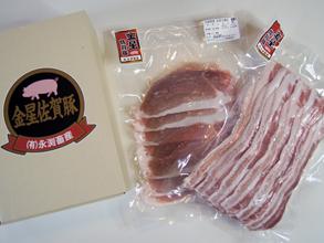 永渕畜産自慢の極上の味「金星佐賀豚」です。<br>脂身がギュッと締まった肉質で甘味があります。大地が育んだ極上の味をしゃぶしゃぶでご賞味下さいませ。<br>【内容】<br>容量 豚バラ(500g) 豚モモ(500g)  <br><br>販売元:永淵畜産マイアーレ<br>