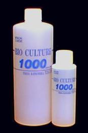 「バイオカルチャー1000」には、硝酸塩を脱窒還元する通性嫌気性菌や、濾過槽の目詰まりを無くして悪臭等を消去する菌が極めて濃厚に封入されています。