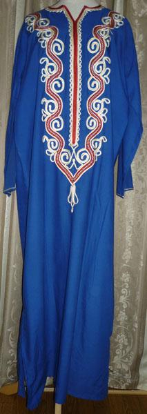 エジプトの民族衣装ガラベイヤです。  ベリーダンス衣装の上に目隠しとして着用して使用できます。