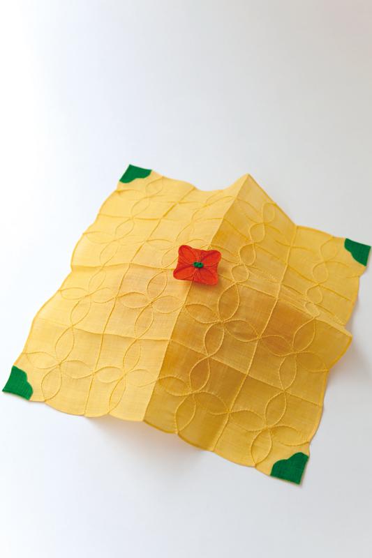 春のおすすめキットです。この作品で直線と曲線のつまみ縫いがマスター出来ます。