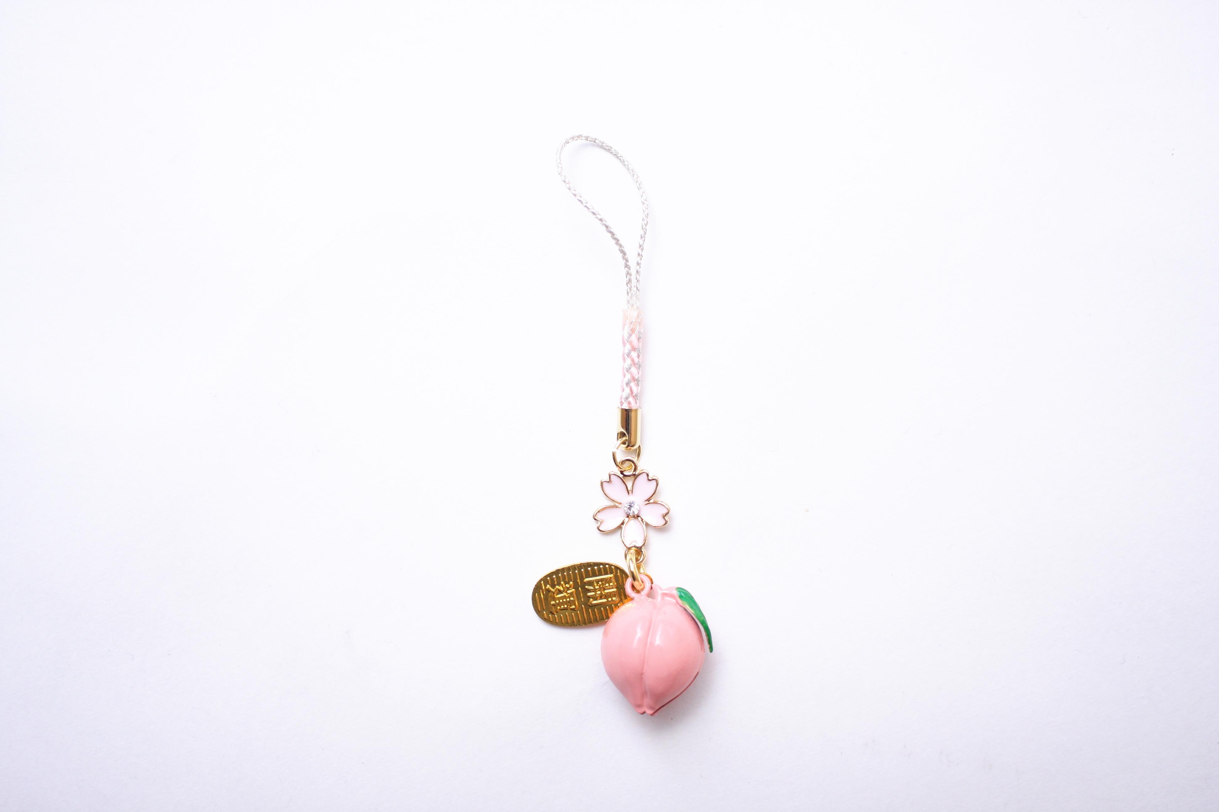 桜の花と桃鈴 白