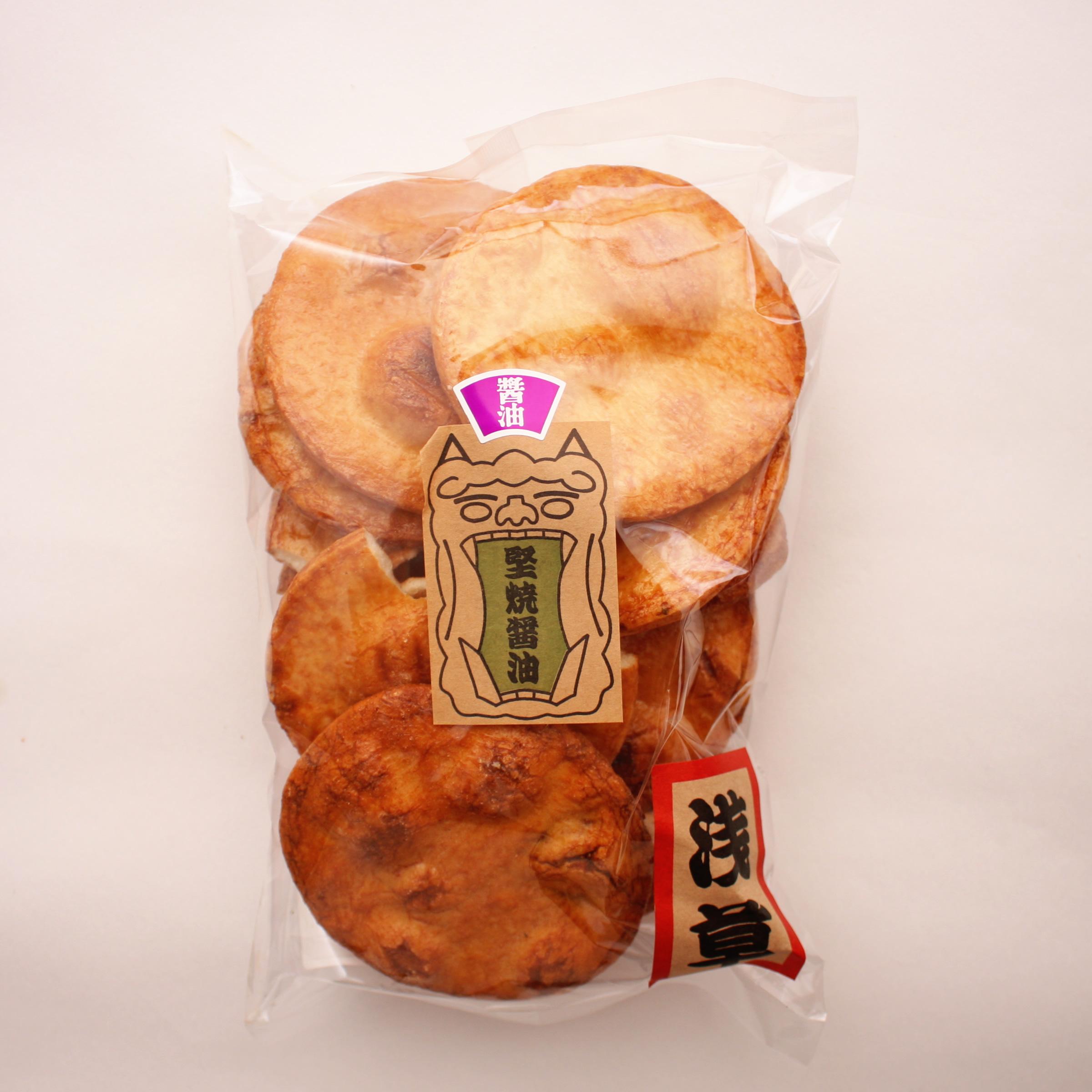 味の代表格醤油味 厚焼きの今も変わらぬおいしいお煎餅です。