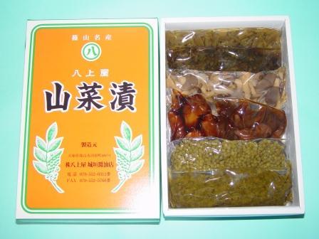 山菜漬6点セット 内容量760g(ふき・せり・さんしょ・きのめ各120g みょうが・しょうが各80g)