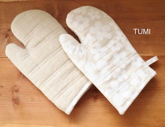 手のひら側と内側はリネンで使いやすいです。