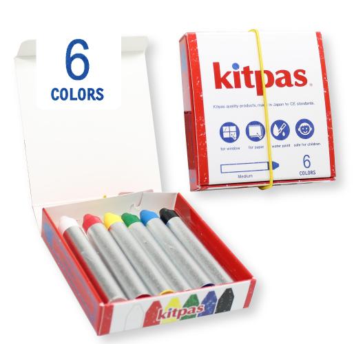 キットパスリニューアル第二弾。 第18回日本文具大賞機能部門グランプリを受賞した「キットパスきっず」がリニューアル! キットパスミディアムとなって新登場!  手軽に使いやすい紙巻タイプです。