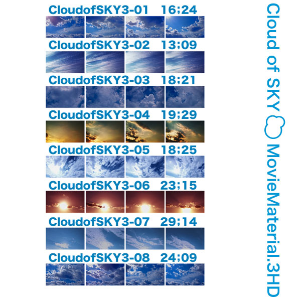 空と雲のフルハイビジョン映像素材集