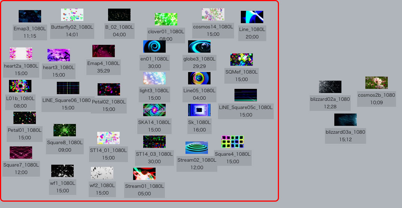 ループできる動画素材は30本収録