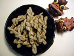 小麦粉・イモ粉・マイタケ・アミエビ・青のり・豆乳・ごま油
