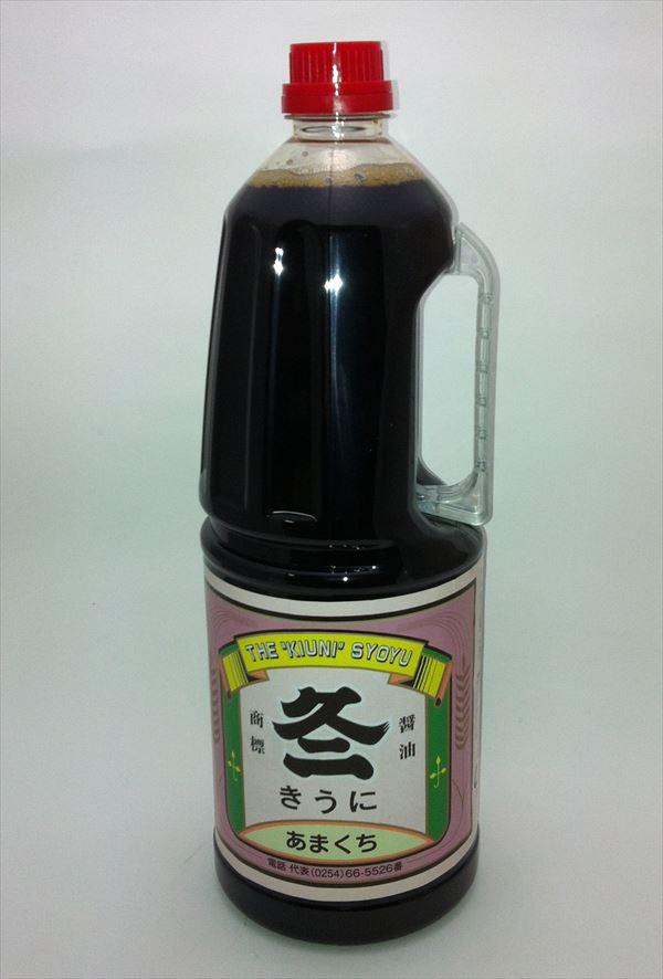 きうに醤油は本醸造ならではの色・味・香りが生きています。また当社製品うまくちより塩分を少なくしてあります。