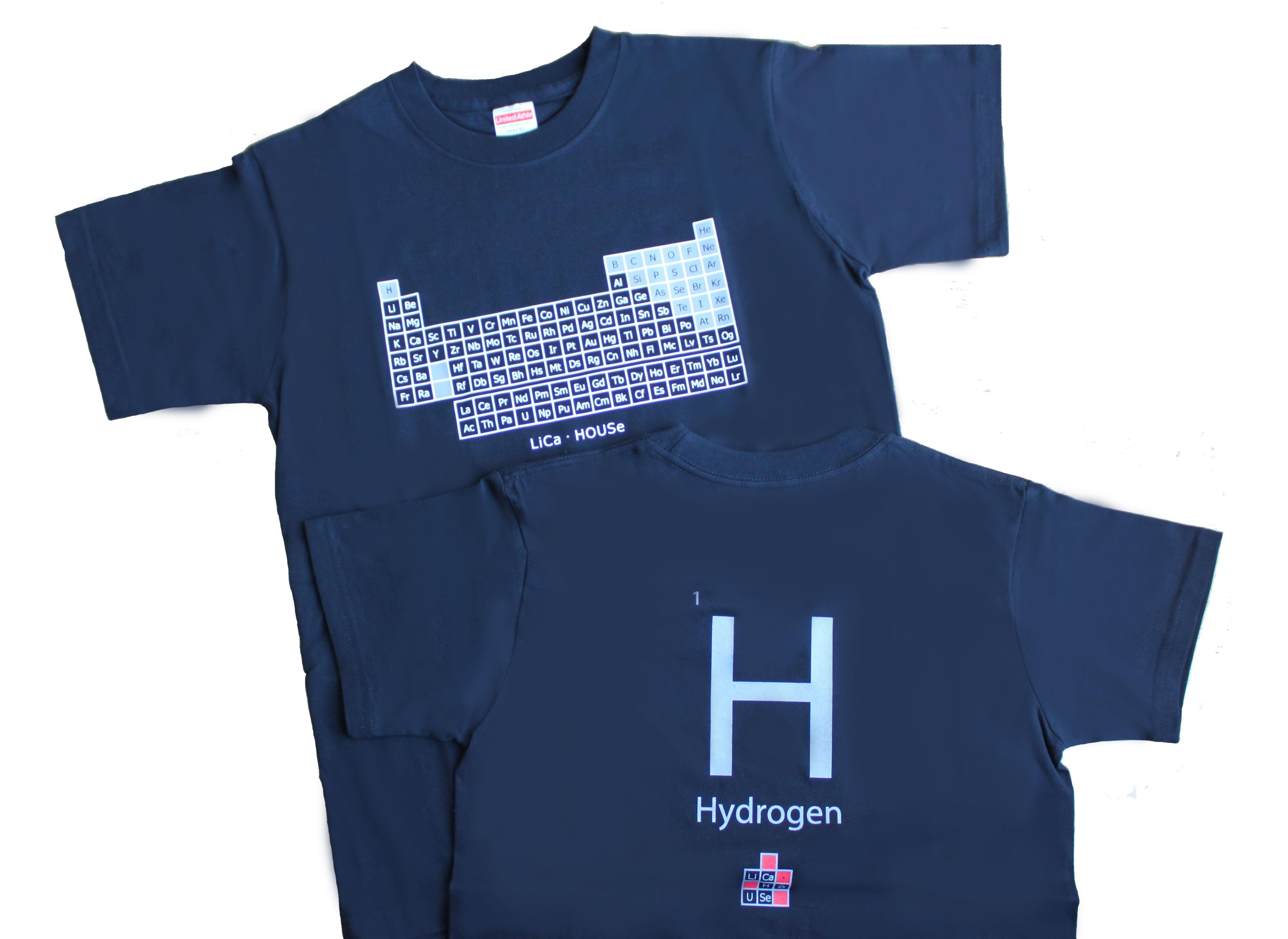 バックはH(水素)の元素記号