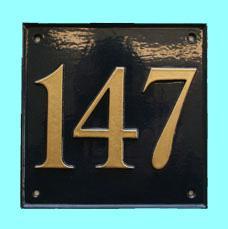 ナンバーサイン square 正方形 W17.7cm x H17.7cm(モチーフ不可)