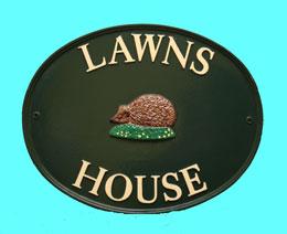 ハウスサイン oval 楕円形 W45.7cm x H35.5cm