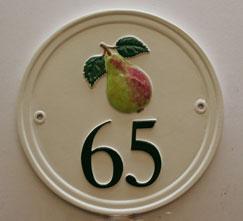 ハウスナンバー round 円形 22.8cm径