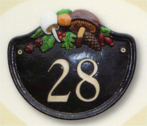 ウッドランド・ナンバーサイン W22.8m x H20cm