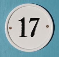 ナンバーサイン round 円形 12.7cm径(モチーフ不可)